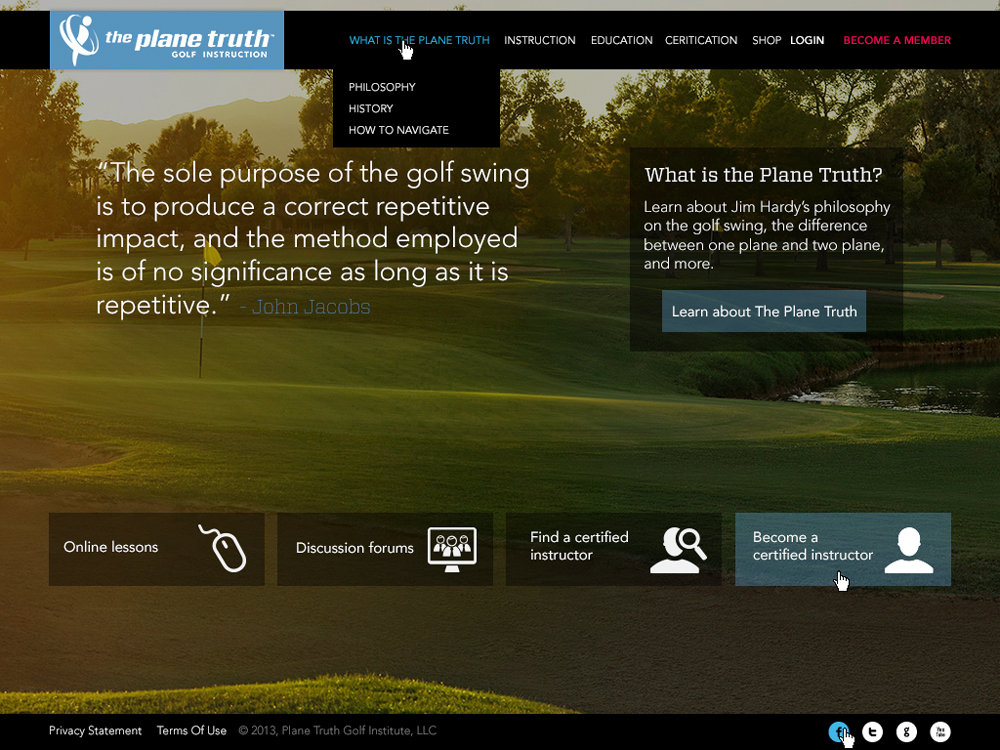 Ben-Pingel-Web-Design-Plane-Truth-Golf