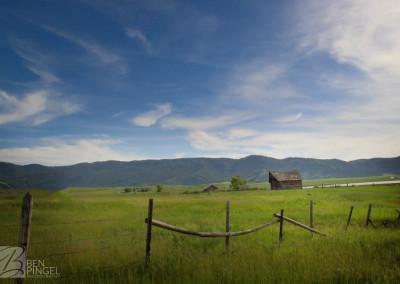 Abandoned barn in Soda Springs, Idaho