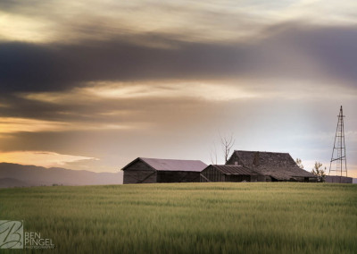 Abandoned farm in Bancroft, Idaho