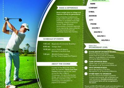 Ben Pingel Graphic Design Golf Tournament Inside
