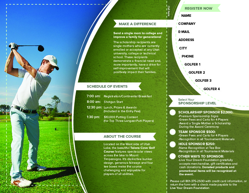 Golf Tournament Brochure  Ben Pingel Portfolio