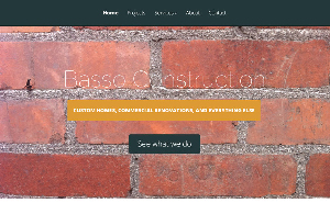 Basso Construction Web Page