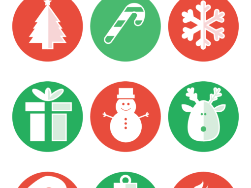 Cute Christmas Icon Set