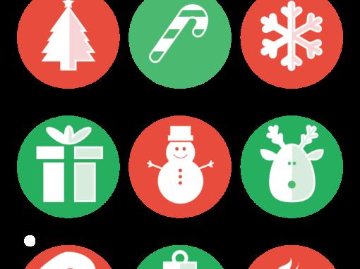 Cute Christmas Icon Set