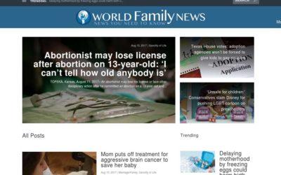 World Family News Website Redesign