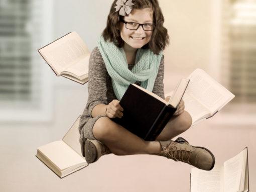 Floating Books- Levitation Photography