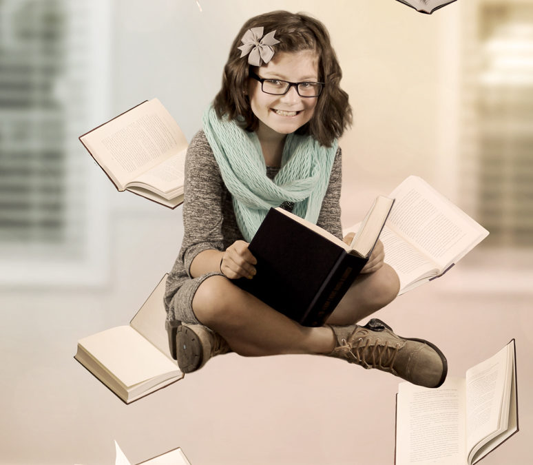 Floating Books- Levitation Photography
